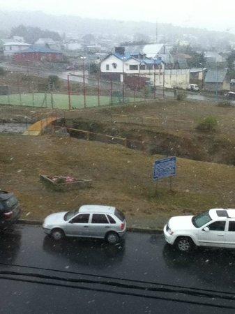 Choconcito Apart Hotel:                   Vista desde el Ventanal de la habitacion