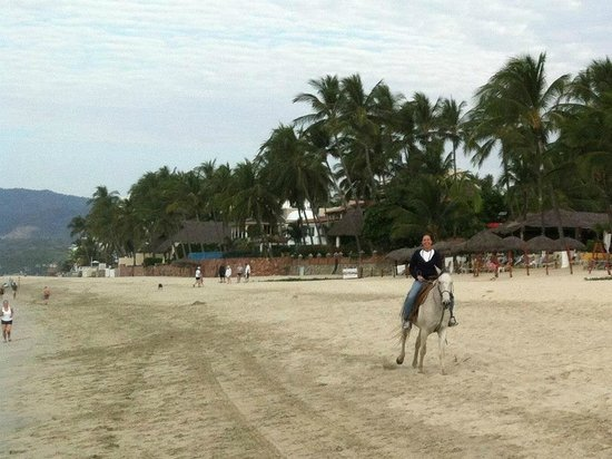 Royal Decameron Complex:                   Riding horses on the beach at the resort.