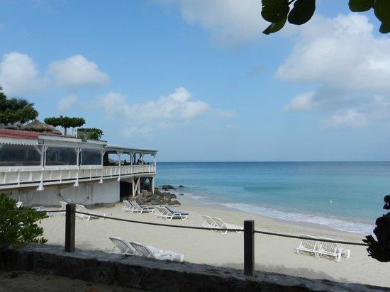 Grand Case Beach Club:                   Grand Beach Case Club Cafe/Beach area