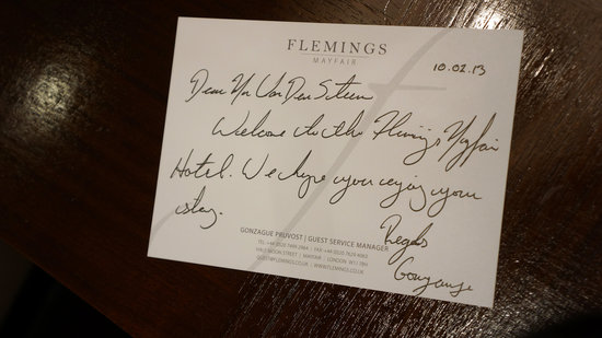 Flemings Mayfair:                   welcome