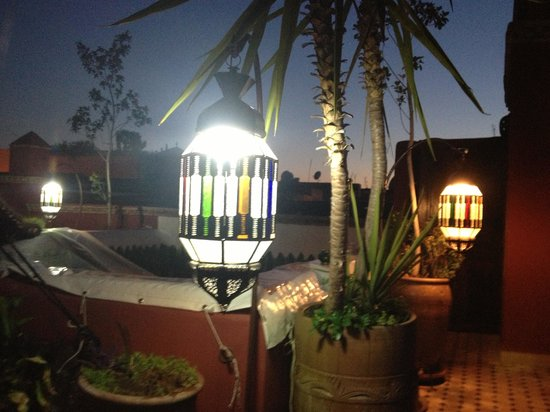 Riad Tamarrakecht :                                     The terrace