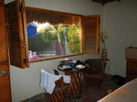 La Fonda del Mar Bed & Breakfast:                   view out room window