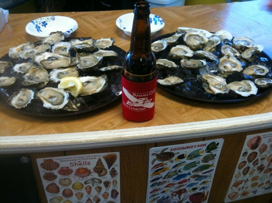 Surfside Shrimp Company:                                     Fresh Oysters and Beer