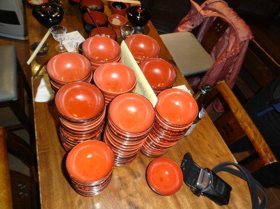 Azumaya, Ekimae:                   The final bowl tally