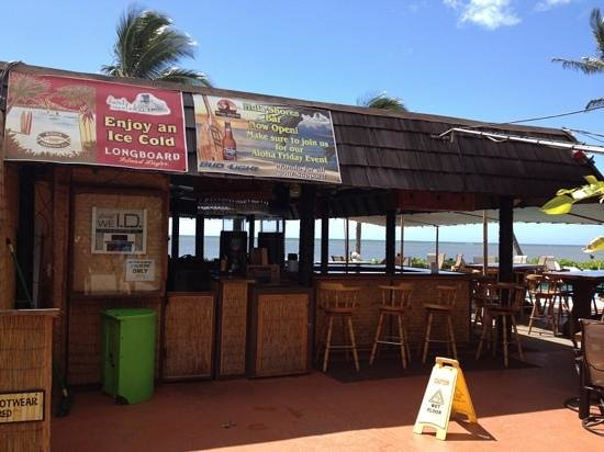 Hula Shores:                   bar is open for business