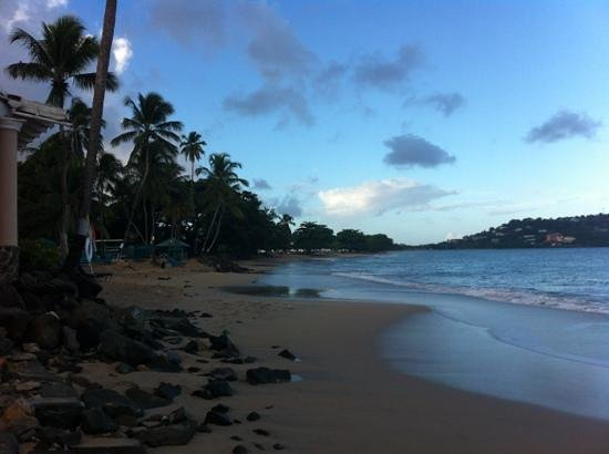 Rendezvous Resort:                   Early morning stroll along the beach