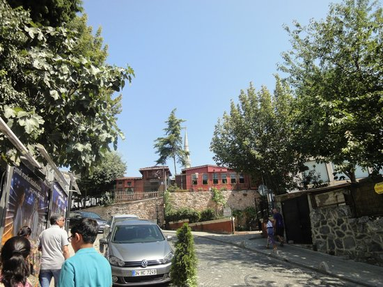 Sokullu Pasa Hotel:                   walking up to the Sultanahmet Camii, 5 minutes away