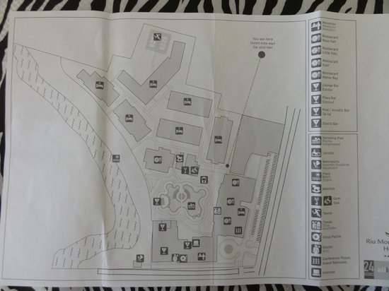 Hotel Riu Montego Bay:                   Map of hotel
