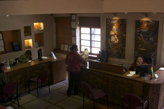 Hotel Rosario La Paz:                   Reception Desk and Tour Agency