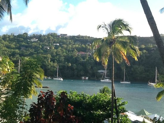 Marigot Beach Club and Dive Resort:                   View from 15B Grande Studio