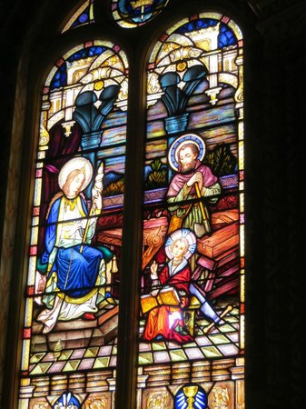 St Mary's Catholic Church:                   stained glass windows  church Bairnsdale