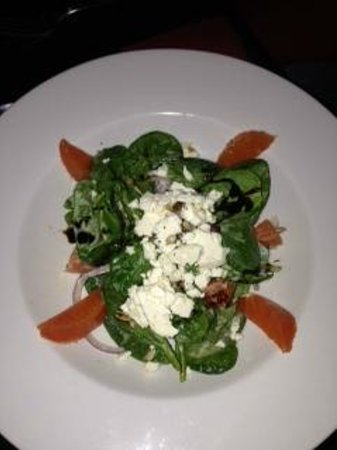 The Restaurant at the Castle Inn:                   Spinach Salad