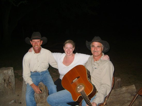 Dixie Dude Ranch :                   Me with Dave & Joe by the campfire singing songs