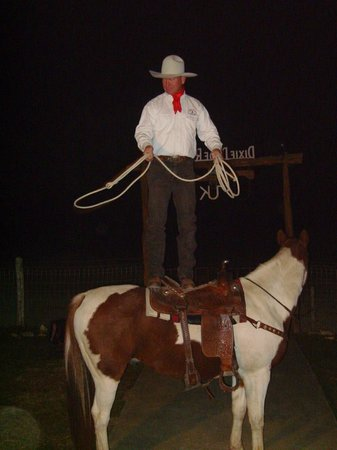 Dixie Dude Ranch :                   Cool trick roper