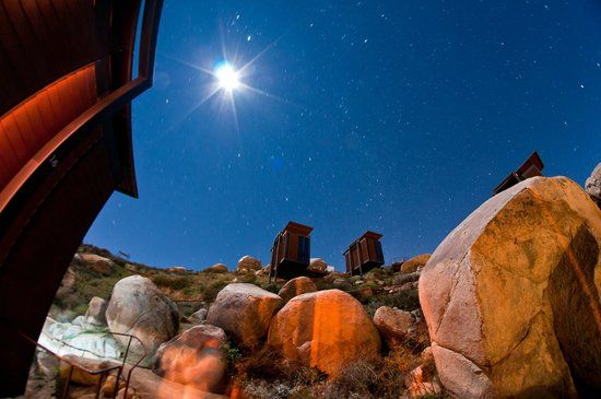 Valle de Guadalupe, Mexico: View of stars from our room
