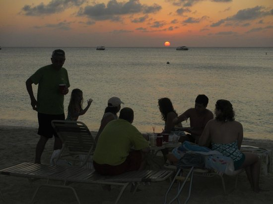 The Islands Club:                   Watching the sunset while enjoying drinks, appetizers, and family!