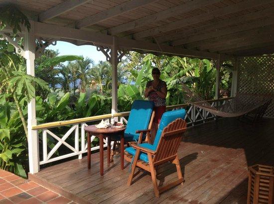Stonefield Villa Resort:                   Veranda