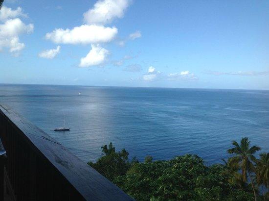Stonefield Villa Resort:                   View from the Mango Tree restaurant