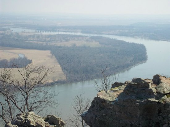 Petit Jean Campground:                   View from Petit Jean Mountain