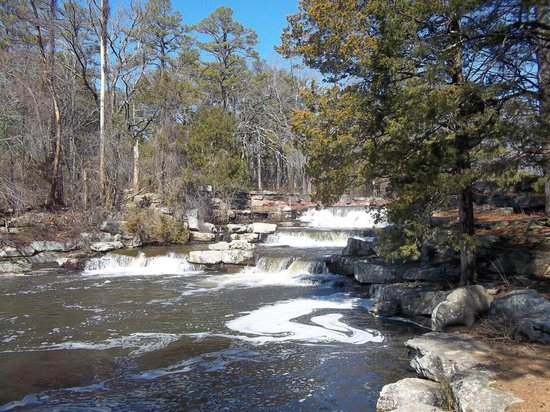 Petit Jean Campground:                   Waterfall from Lake Bailey to Lake Roosevelt