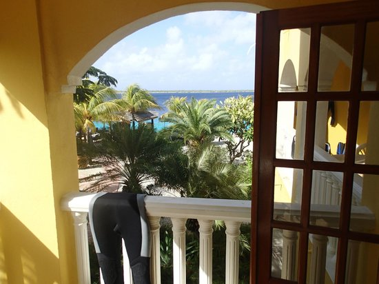 Buddy Dive Resort:                   View from second-floor balcony