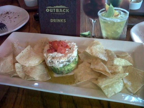 Outback Steakhouse:                   Crab and avocado stack