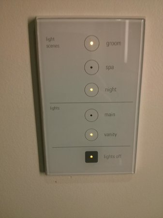 Fairmont Pacific Rim:                   Room lighting controls