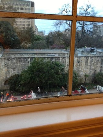 Menger Hotel:                   The Alamo as seen from my room