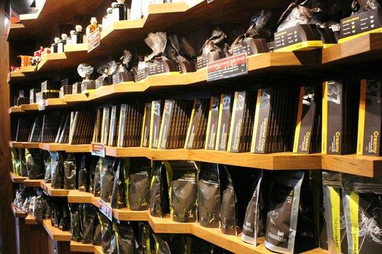 Thomas Haas:                   Shelves of baking chocolate.