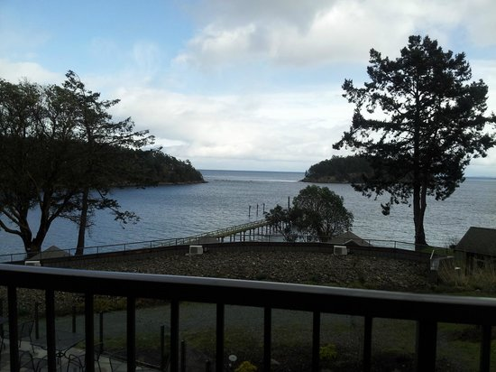 Mayne Island Resort:                                     view off balcony