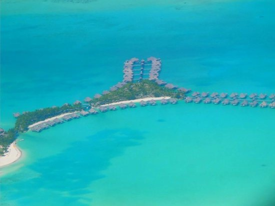 The St. Regis Bora Bora Resort:                   Gorgeous view of St. Regis from the plane!