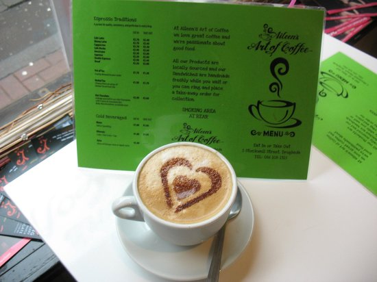 Aileen's Art of Coffee :                   A heart-y cappuccino for Valentine's Day