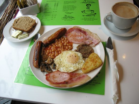 Aileen's Art of Coffee:                   Big Irish breakfast!