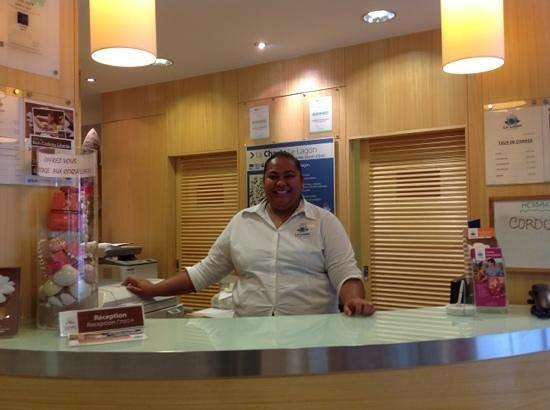 Le Lagon Hotel:                   Le sourire de Rose a l'accueil ! merci pour tout !