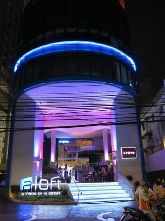 Aloft Bangkok - Sukhumvit 11:                   hotel from the outside