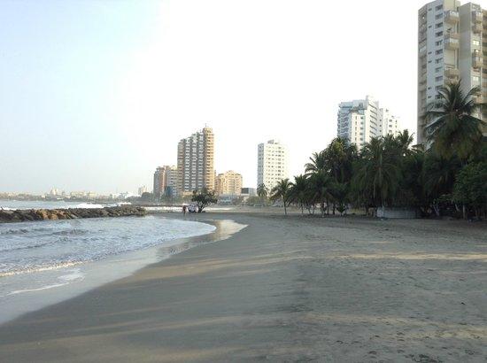 Decameron Cartagena:                                     Una parte de la playa