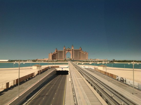 Atlantis, The Palm: View of hotel from the Monorail