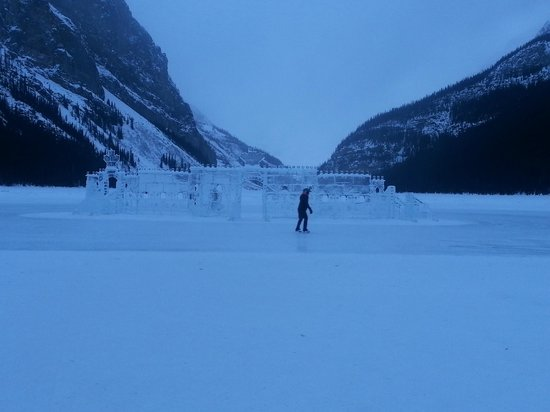 Fairmont Chateau Lake Louise:                   Skating on the lake