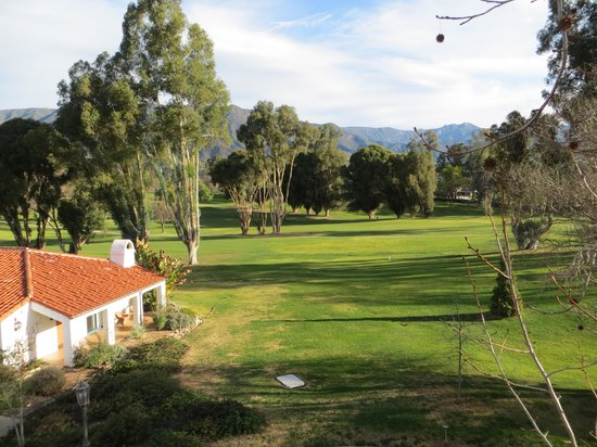 Ojai Valley Inn:                   View from hotel balcony and room