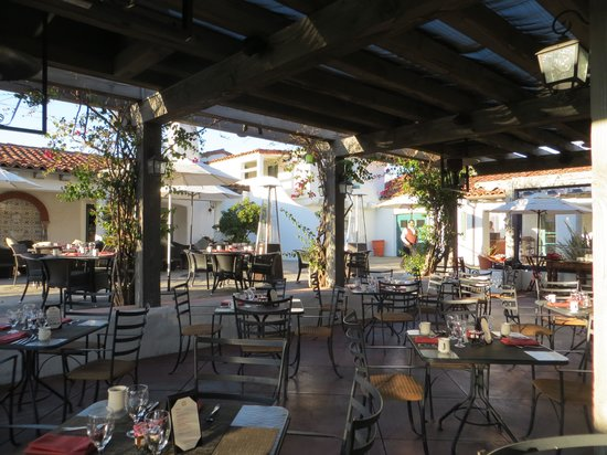 Ojai Valley Inn & Spa:                   outdoor cafe terrace
