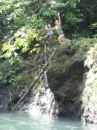 Drake Bay, Costa Rica:                   Jumping off the cliff