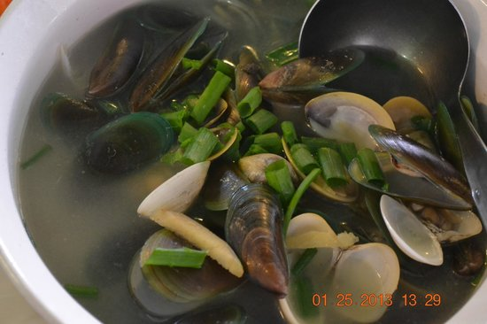 D' Talipapa Market:                   Seafoods:  clam soup