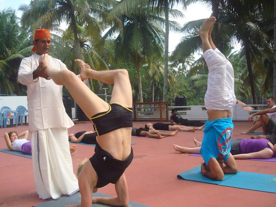 Varkala, India:                   yoga training