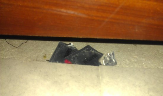 Hotel California :                   Condoms under the bed, this wasn't it when they cleaned they found like 20 dow
