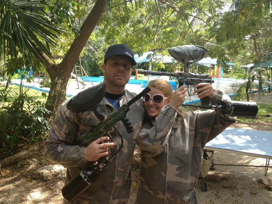 Ecoparque Cuzam:                   Had a blast paint-balling for the first time