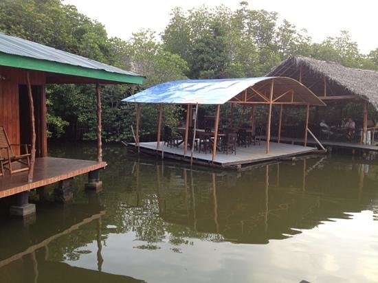 Nature Resort:                                     floating dinner room