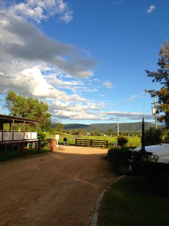 Killarney View Cabins and Caravan Park :                   view across the ranges