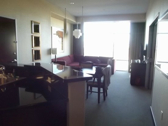 Staybridge Suites Las Vegas:                   dining room and living room