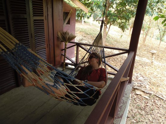 Nam Lik Eco-village:                   Relaxing in the hammock
