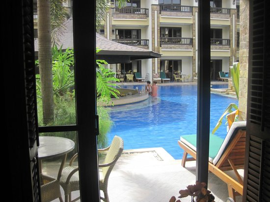 Henann Regency Resort & Spa:                   View from theKing size bed room with swimming pool access